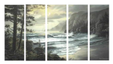 Designer  Multipanel Oil Painting 185