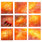 Designer  Multipanel Oil Painting 113