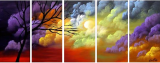 Designer  Multipanel Oil Painting 561