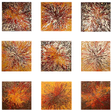 Designer  Multipanel Oil Painting 102