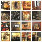 Designer  Multipanel Oil Painting 91