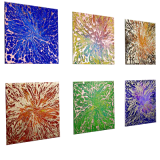 Designer  Multipanel Oil Painting 108